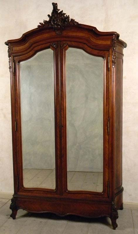 A 19th Century 2 Door Hand Carved Louis 15 Armoire