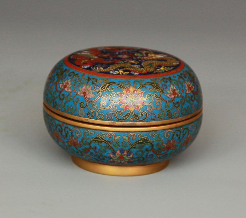 Chinese Cloisonne Box and Jadeite Bangle - Pre 1900