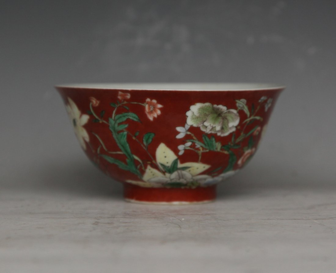 Red Porcelain Bowl
