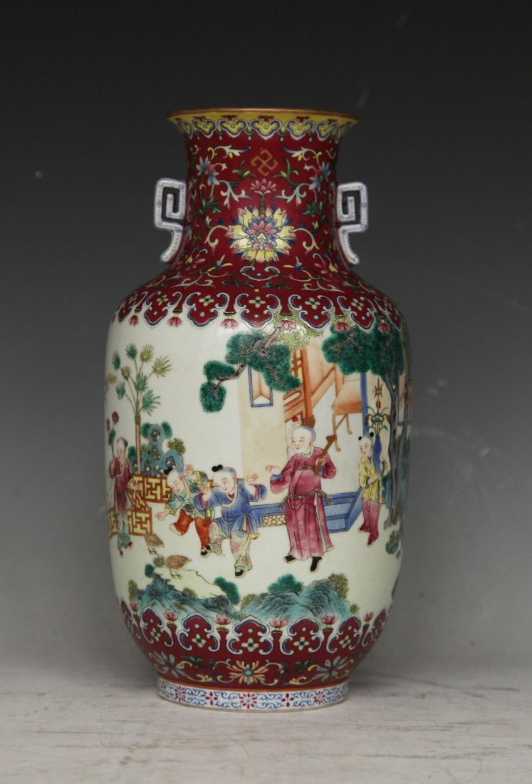 Painted Porcelain Vase