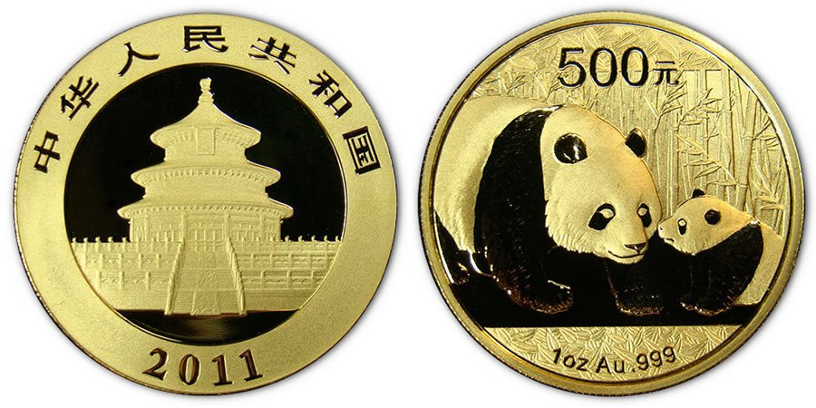 4: 2011 Gold Chinese Panda Coin 1 Ounce