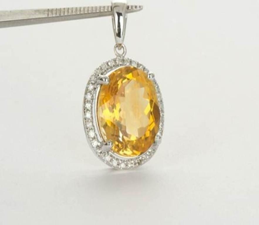 6: Natural Citrine Pendant 4.0ctw with loose diamonds 1