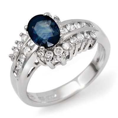 7: Natural Sapphire Ring 0.9 ctw with loose diamonds 14