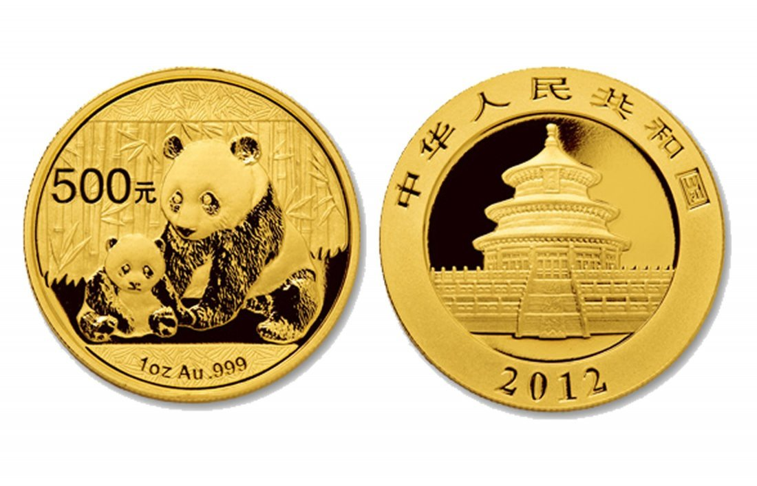 9: 2012 Gold Chinese Panda Coin 1 Ounce