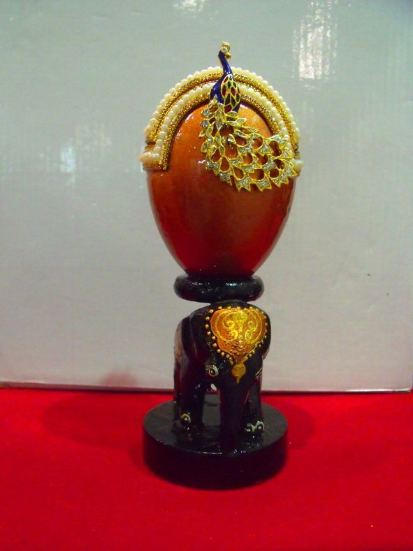 10: Handcrafted Ostrich Egg Fashion Jewelery Elephant S