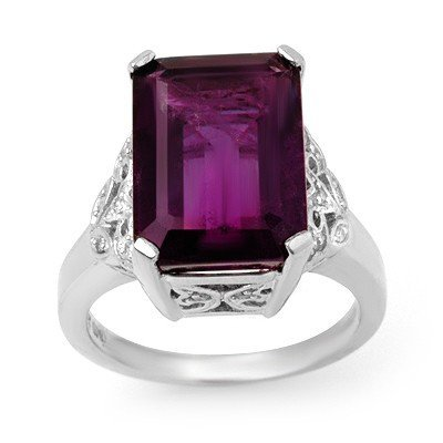11: Natural Amethyst Ring 17.60 ctw with loose diamonds
