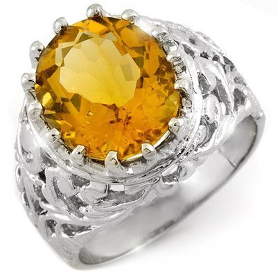 17: Natural Citrine Ring 5.1ctw with loose diamonds 14k