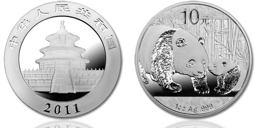 20: 2011 Silver Chinese Panda Coin 1 Ounce