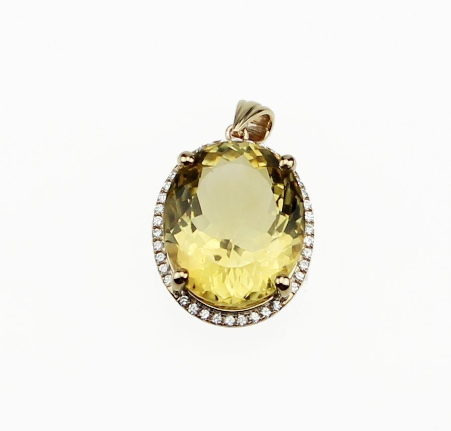 CONTEMPORARY Citrine Pendant
