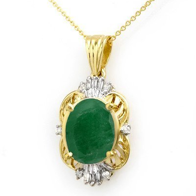 TIMELESS Big Emerald Pendant