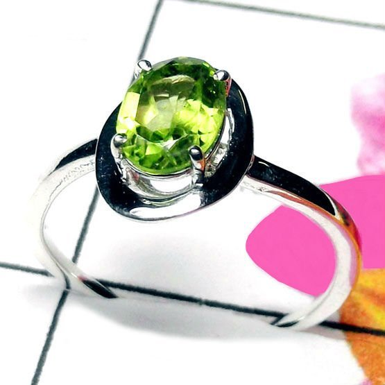 Natural AAA Peridot Handcrafted Designer 925 Sterling S