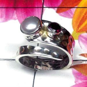 Natural AAA Pearl with Garnet Handcrafted Designer 925