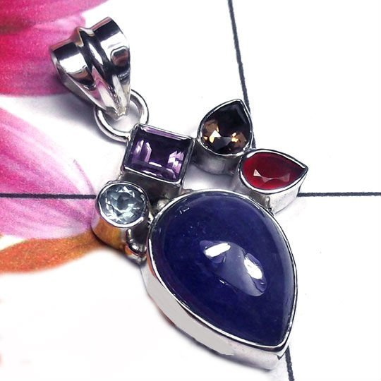 Natural AA Tanzanite (with Blue Topaz, Amethyst, Smoky