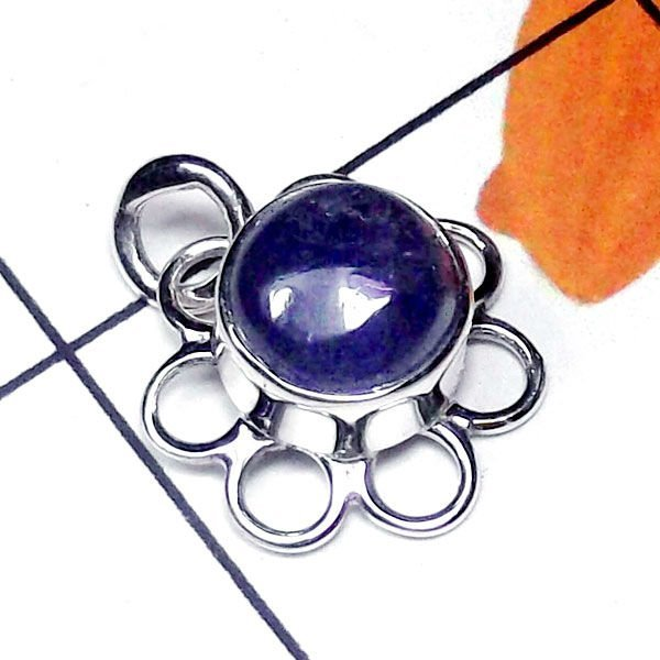 Natural AA Tanzanite Handcrafted Designer 925 Sterling