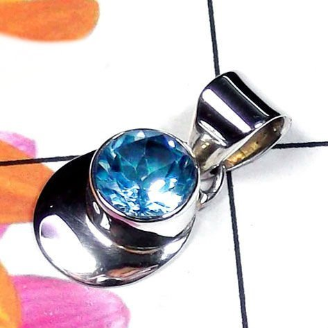 Natural AAA Blue Topaz Handcrafted Designer 925 Sterlin