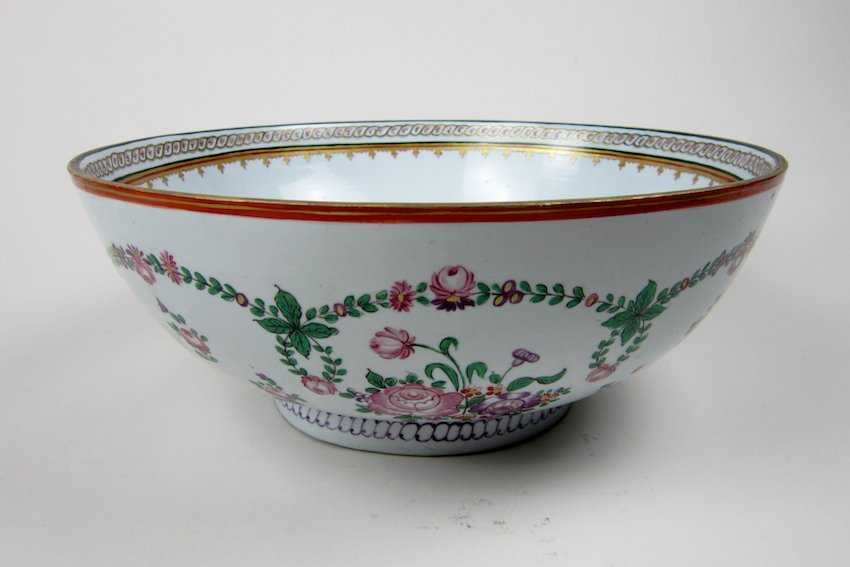 9: Hand-Decorated Porcelain Bowl