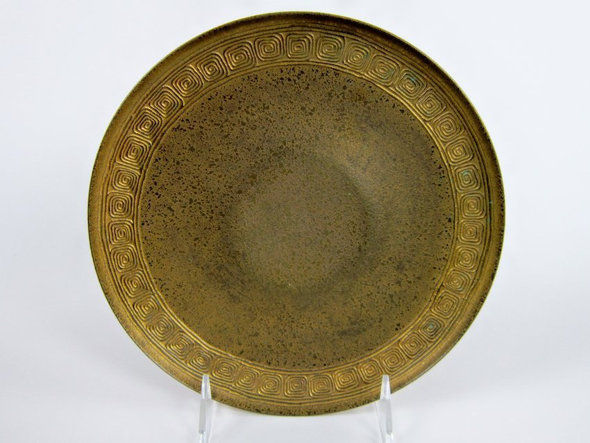 12: Tiffany Studios Gilted Bronze Plate