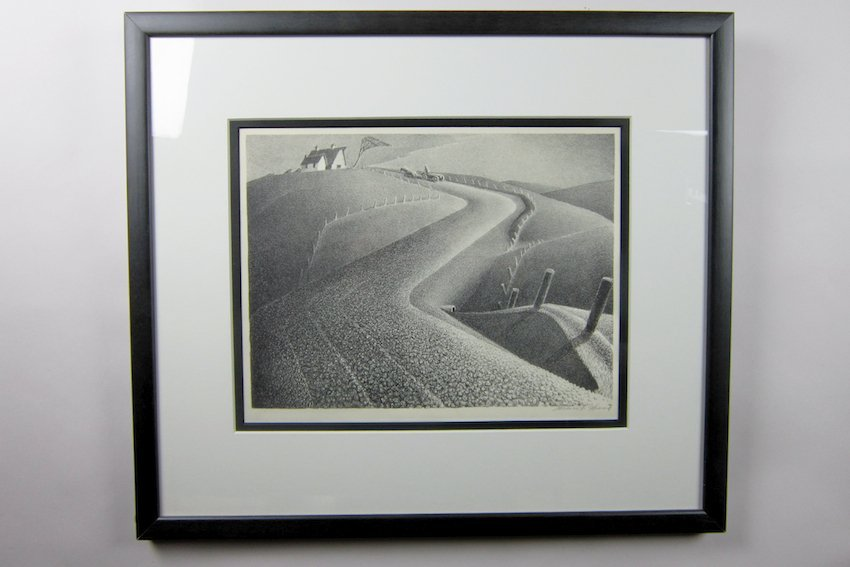 "76: Grant Wood Lithograph Entitled ""March"""