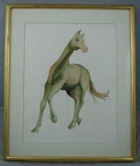 Elliot Offner, Watercolor on Paper