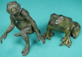 Brass Monkey and Cast Iron Frog
