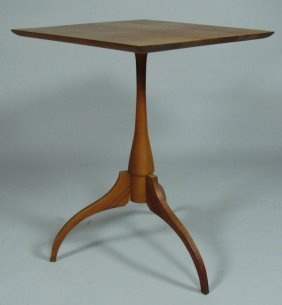 Shaker-Influenced Cherry Candlestand