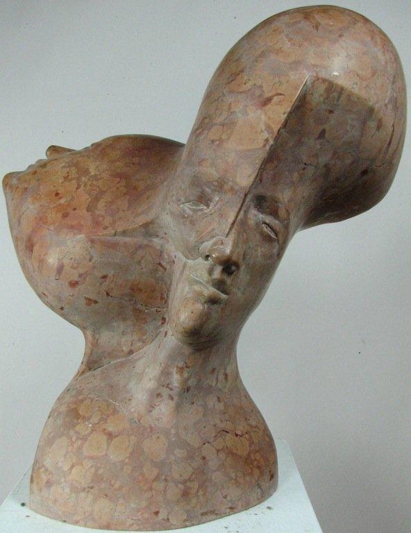 "Elliot Offner, Verona Marble Sculpture ""Three Heads"""