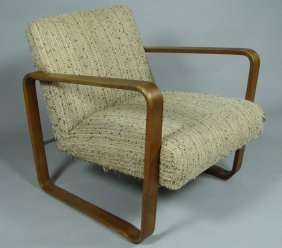 Mid-Century Upholstered Armchair