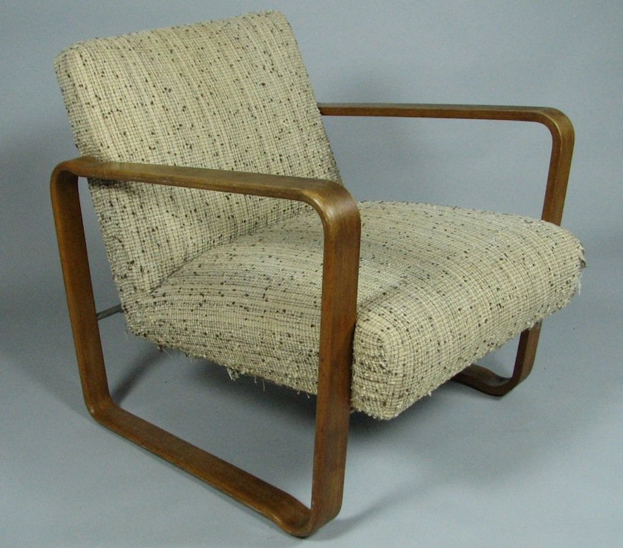 Mid-Century Upholstered Armchair