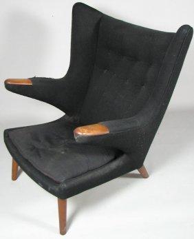 Mid-Century Danish Modernist Upholstered Armchair
