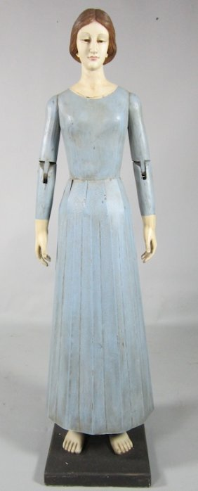 Carved and Jointed Standing Figure of Maria Mitchell