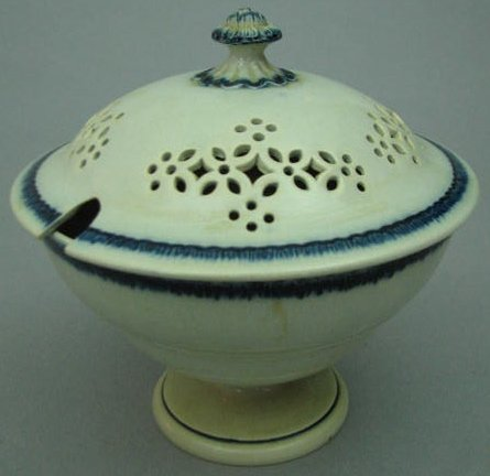 Covered Round Leeds Pottery Sauce Tureen