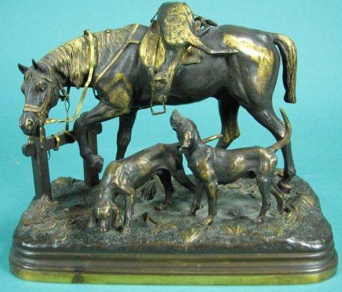 """Bronze Sculpture """"Le Retour de la Chasse"""""""