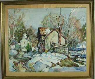 W. Lester Stevens Watercolor