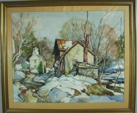 W. Lester Stevens Watercolor