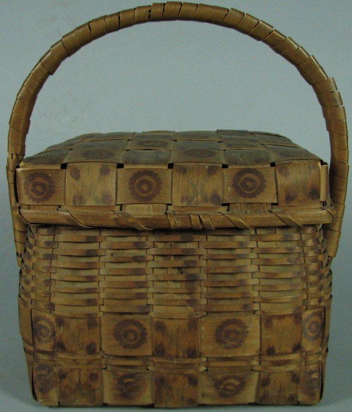 N.E. American Indian Handled Basket