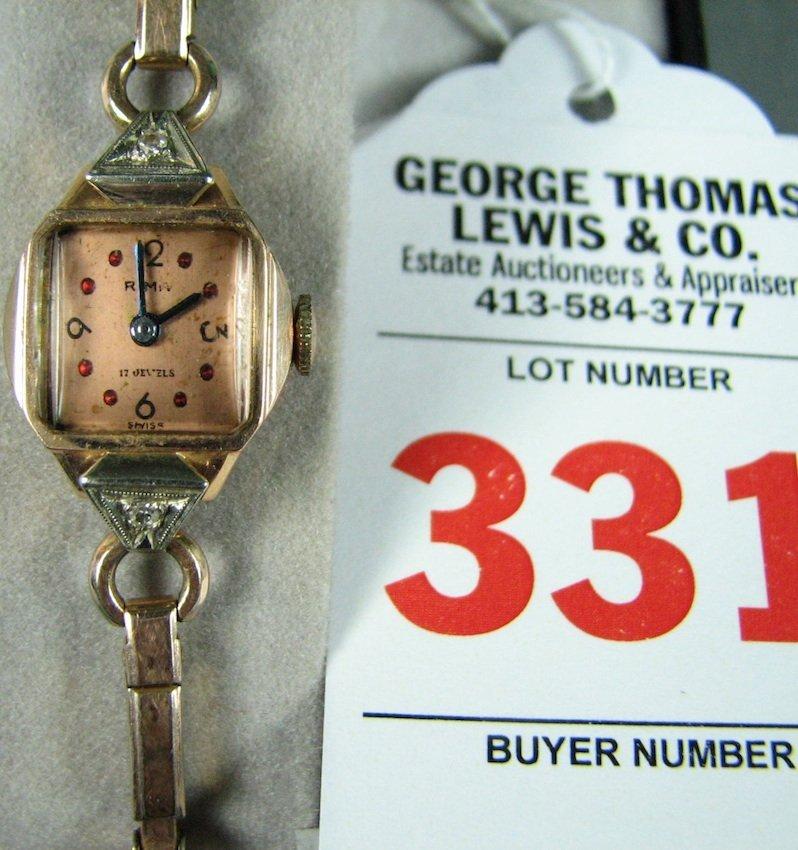 14K Rima Watch Co. 17-Jewel Ladies Wrist Watch