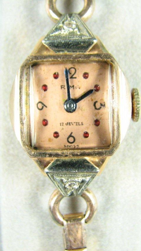 14K Rima Watch Co. 17-Jewel Ladies Wrist Watch - 2