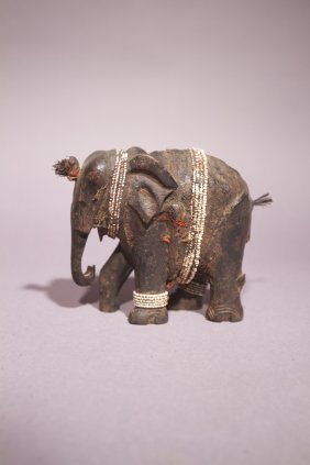 Pare African Elephant With Beads