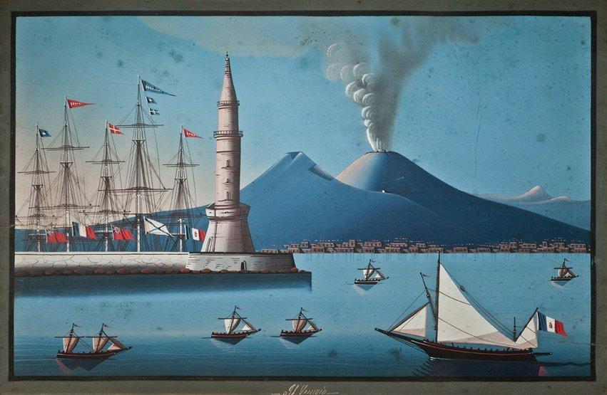3: NEAPOLITAN SCHOOL, 19TH CENTURY The harbour at Naple