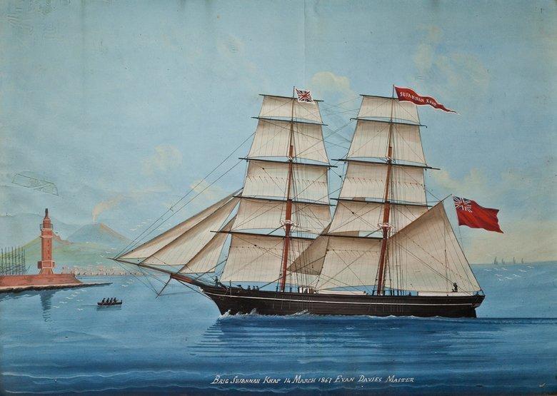 4: NEAPOLITAN SCHOOL, 19TH CENTURY The brig 'Susannah K