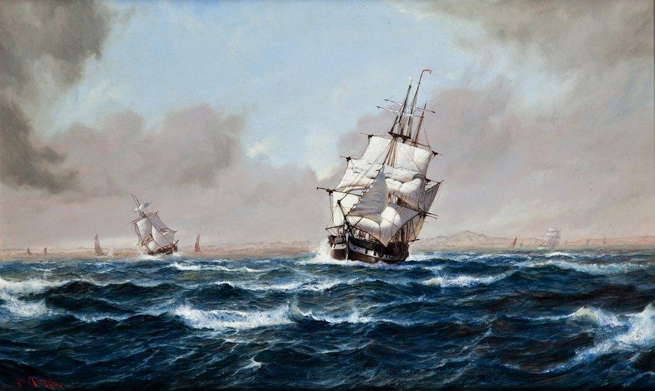 10: ROBERT MOORE (BRITISH, 1905-1963) Stormy conditions