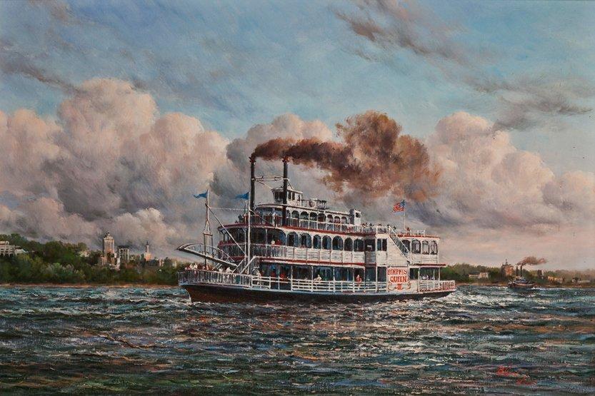 11: ALEX LEES, 20TH CENTURY The American stern-wheel ri
