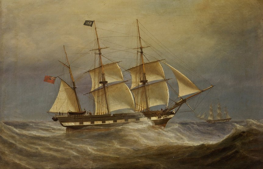 15: WILLIAM CLARK (GREENOCK, 1803-1883) The 'Hanover' o