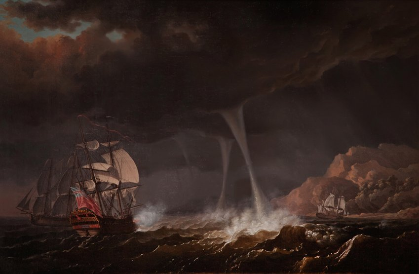 17: OLIVIER LE MAY (1734-1797) An English Squadron of t