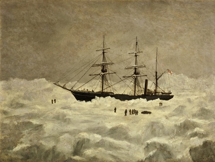 21: H.L. JOHNSON (BRITISH, 20TH CENTURY) S.S. Discovery