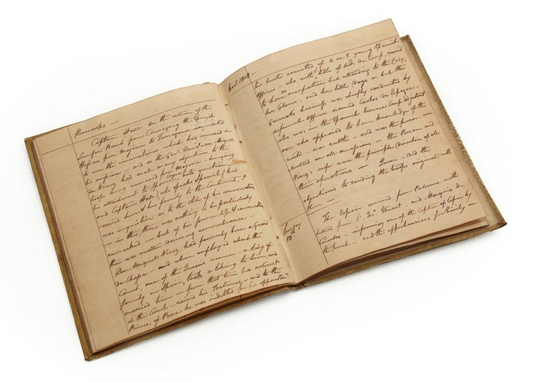 39: A PRIVATE AUTOGRAPH JOURNAL KEPT BY ADMIRAL LORD CO