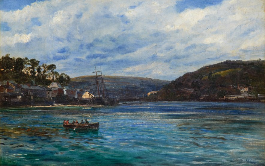 HENRY MOORE (BRITISH, 1831-1895) A View of Fowey Harbou