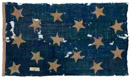 AN HISTORICALLY INTERESTING FIFTEEN-STAR AMERICAN NAVAL