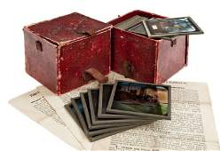 TWO SETS OF EARLY 20TH-CENTURY COLOURED MAGIC LANTERN S
