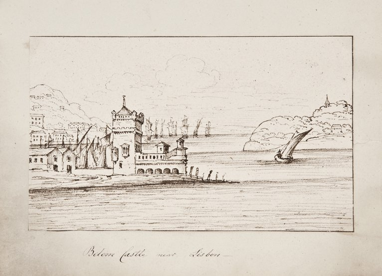 ENGLISH NAVAL SCHOOL, EARLY 19TH-CENTURY Six pen, ink a